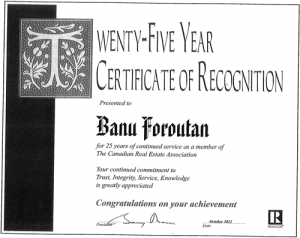 25 years certificate of recognition